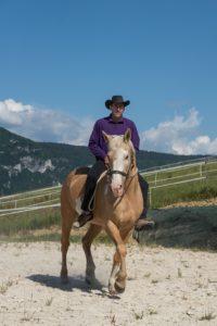 A cheval dans notre carrière